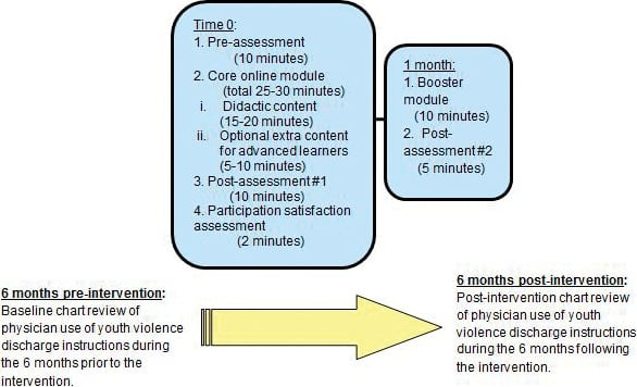 Effects of a Web-based Educational Module on Pediatric Emergency Medicine Physicians' Knowledge, Attitudes, and Behaviors Regarding Youth Violence