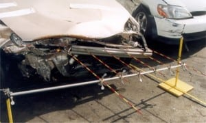Figure 1. Frontal damage with measurement of vehicle deformation