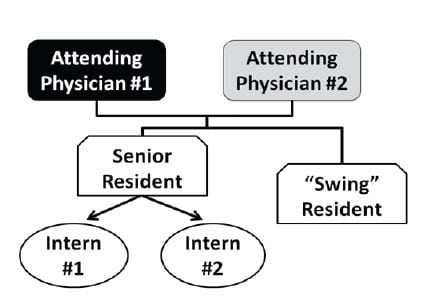 Figure 1 Pre-intervention staffing model.