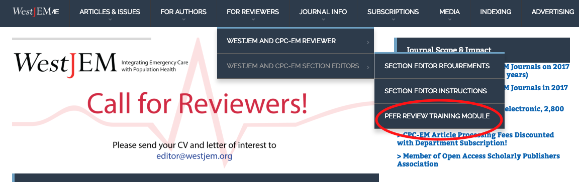 Reviewer Instructions - The Western Journal of Emergency